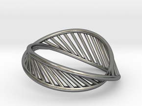 DNA Ring US7 in Polished Silver: 8 / 56.75