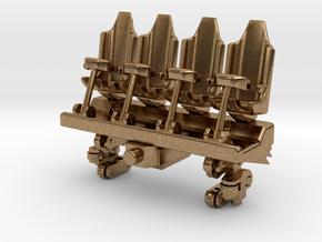 Wagon Seats small in Natural Brass (Interlocking Parts)