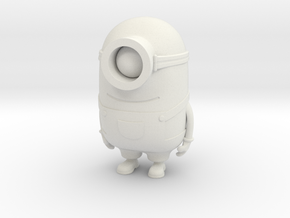"One eyed minion from ""Despicable Me"" in White Natural Versatile Plastic"