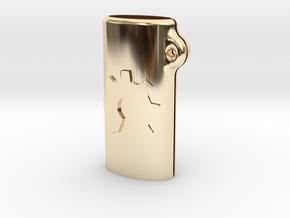 BIC mini OSH keychain in 14K Yellow Gold