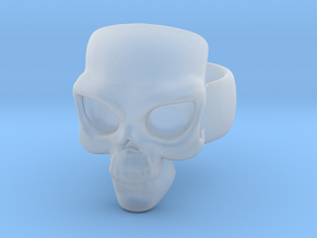 Skull Ring 'Sole'  in Smooth Fine Detail Plastic: 6 / 51.5