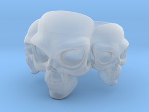 Skull Ring 'Trinity'  in Smooth Fine Detail Plastic: 6 / 51.5