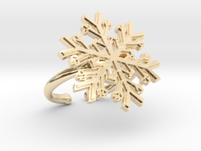 Snowflake Ring 1 d=16.5mm Adjustable h21d165a in 14K Yellow Gold
