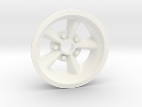 1:8 Front American Five Spoke Wheel in White Processed Versatile Plastic