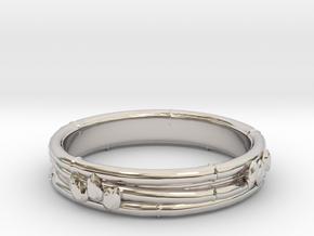 Taketori ring(Japan 10,USA 5.5,Britain K)  in Rhodium Plated Brass