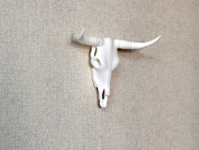 Bull Skull in White Strong & Flexible
