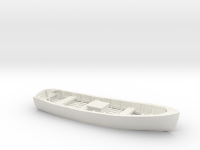 Wooden SKIFF BOAT O Scale in White Natural Versatile Plastic
