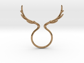 Antler Ring No.1 in Polished Brass