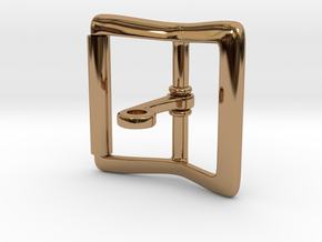 Locking Tongue Roller Buckle (4cm) in Polished Brass (Interlocking Parts)