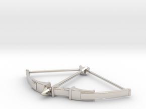 Recurve Bow Pendant in Platinum