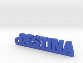 DESTINA_keychain_Lucky in Blue Processed Versatile Plastic
