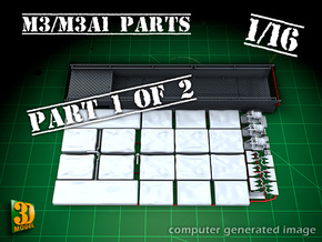 M3/M3A1 halftrack parts (1/16) (1of2) in Smooth Fine Detail Plastic
