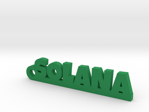 SOLANA_keychain_Lucky in Green Processed Versatile Plastic