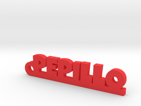 PEPILLO_keychain_Lucky in Red Processed Versatile Plastic