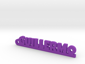 GUILLERMO_keychain_Lucky in Purple Processed Versatile Plastic