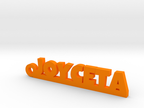 JOYCETA_keychain_Lucky in Orange Processed Versatile Plastic