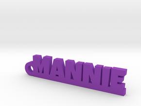 MANNIE_keychain_Lucky in Purple Processed Versatile Plastic