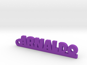 ARNALDO_keychain_Lucky in Purple Processed Versatile Plastic