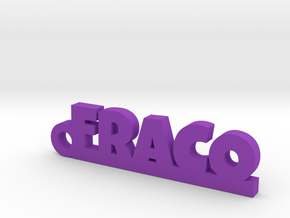 FRACO_keychain_Lucky in Purple Processed Versatile Plastic