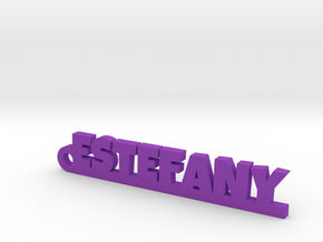 ESTEFANY_keychain_Lucky in Purple Processed Versatile Plastic