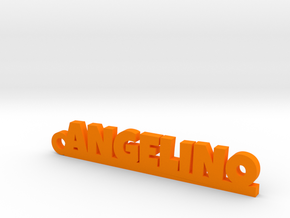 ANGELINO_keychain_Lucky in Orange Processed Versatile Plastic