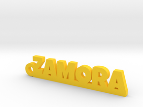 ZAMORA_keychain_Lucky in Yellow Processed Versatile Plastic