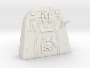 A0 - A1 Backhead Controls RHD in White Natural Versatile Plastic