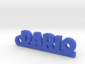 DARIO_keychain_Lucky in Blue Processed Versatile Plastic