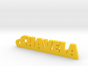 CHAVELA_keychain_Lucky in Yellow Processed Versatile Plastic