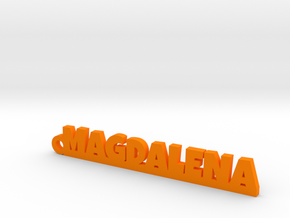 MAGDALENA_keychain_Lucky in Orange Processed Versatile Plastic