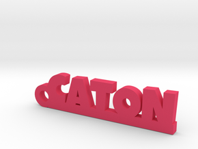 CATON_keychain_Lucky in Pink Processed Versatile Plastic