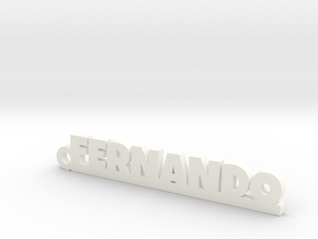 FERNANDO_keychain_Lucky in White Processed Versatile Plastic