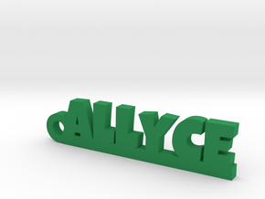 ALLYCE_keychain_Lucky in Green Processed Versatile Plastic