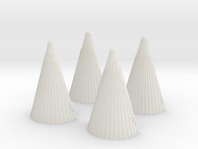 1:72 Saturn V Engine Fairings- 4 Pack in White Natural Versatile Plastic