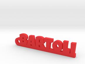 BARTOLI_keychain_Lucky in Rhodium Plated Brass