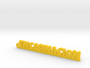 ENCARNACION_keychain_Lucky in Yellow Processed Versatile Plastic