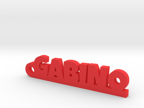 GABINO_keychain_Lucky in Red Processed Versatile Plastic