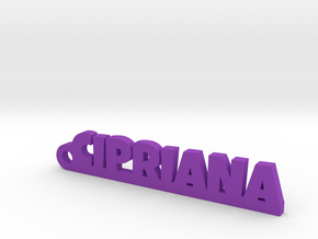 CIPRIANA_keychain_Lucky in Purple Processed Versatile Plastic