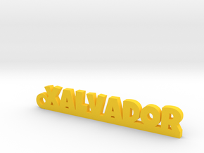 XALVADOR_keychain_Lucky in Yellow Processed Versatile Plastic