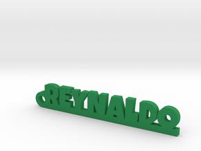 REYNALDO_keychain_Lucky in Rhodium Plated Brass