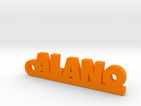 ALANO_keychain_Lucky in Orange Processed Versatile Plastic