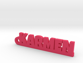 KARMEN_keychain_Lucky in Pink Strong & Flexible Polished