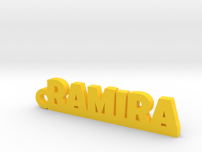 RAMIRA_keychain_Lucky in 14k Gold Plated Brass