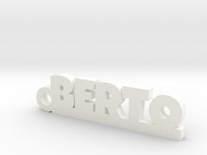 BERTO_keychain_Lucky in White Processed Versatile Plastic