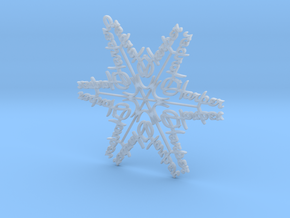 Harper snowflake ornament in Smooth Fine Detail Plastic