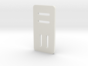 dual slider buckle in White Natural Versatile Plastic
