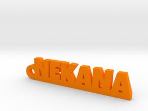 NEKANA_keychain_Lucky in Orange Processed Versatile Plastic