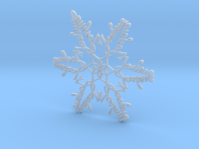 Joshua snowflake ornament in Smooth Fine Detail Plastic