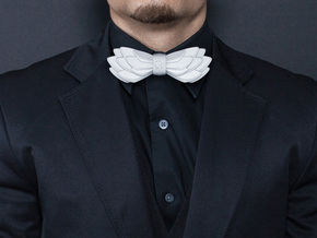 AIRLINE Bowtie by BITS TAILOR - READ DESCRIPTION in White Strong & Flexible Polished