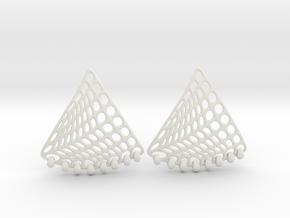Baumann Swing Earrings in White Premium Strong & Flexible: Small